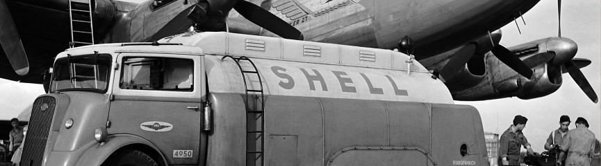 An early Shell 1,000 litre road tanker from South Africa. South Africa